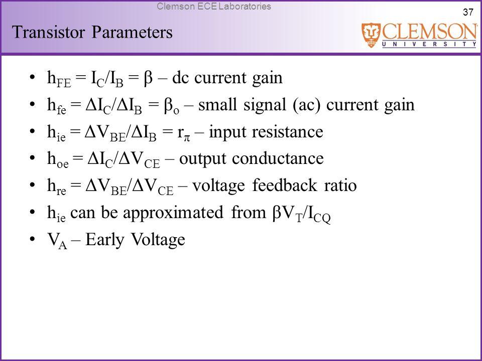 Transistor Parameters