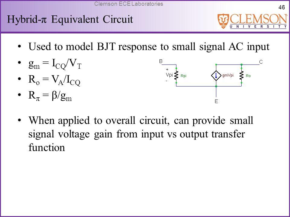 Hybrid-π Equivalent Circuit