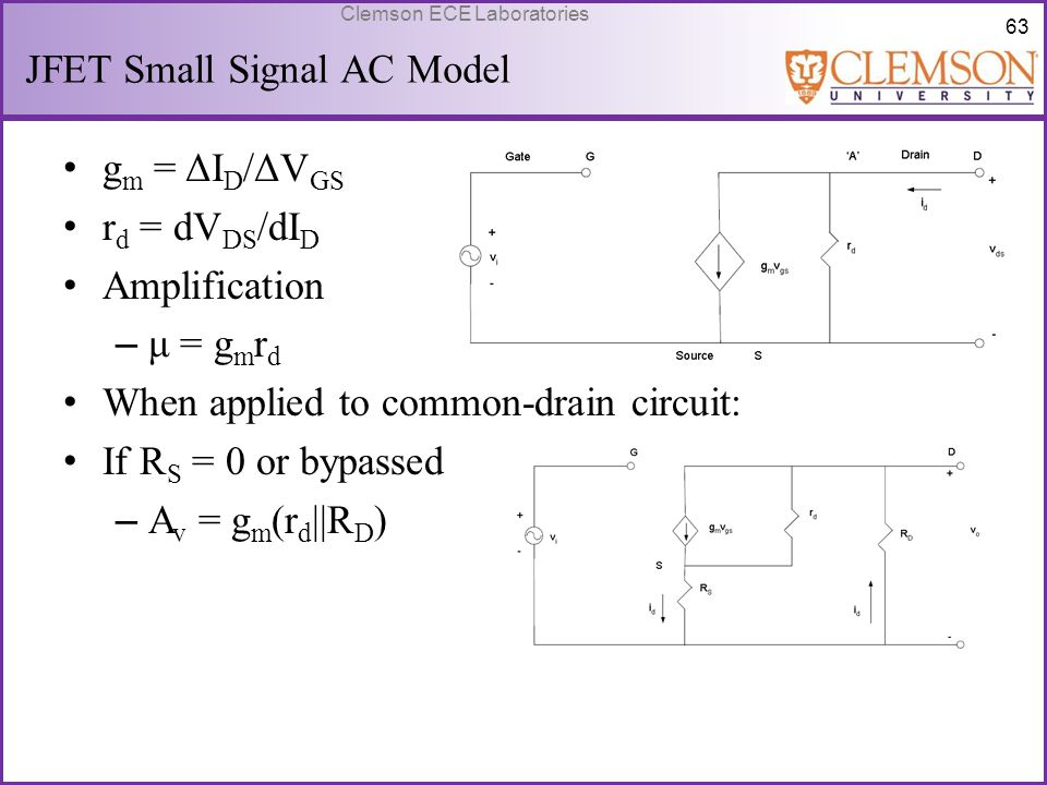 JFET Small Signal AC Model