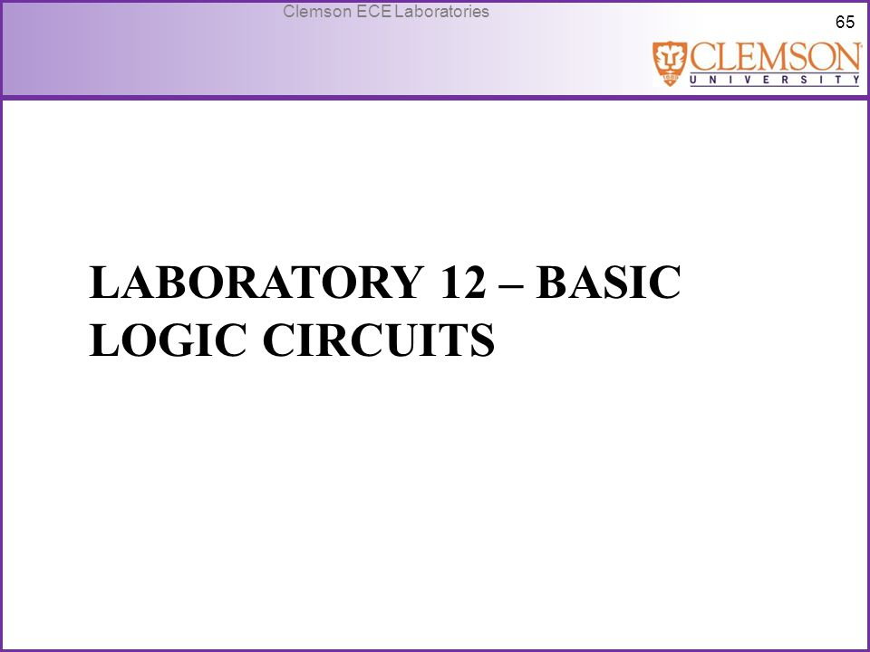 Laboratory 12 – basic logic circuits