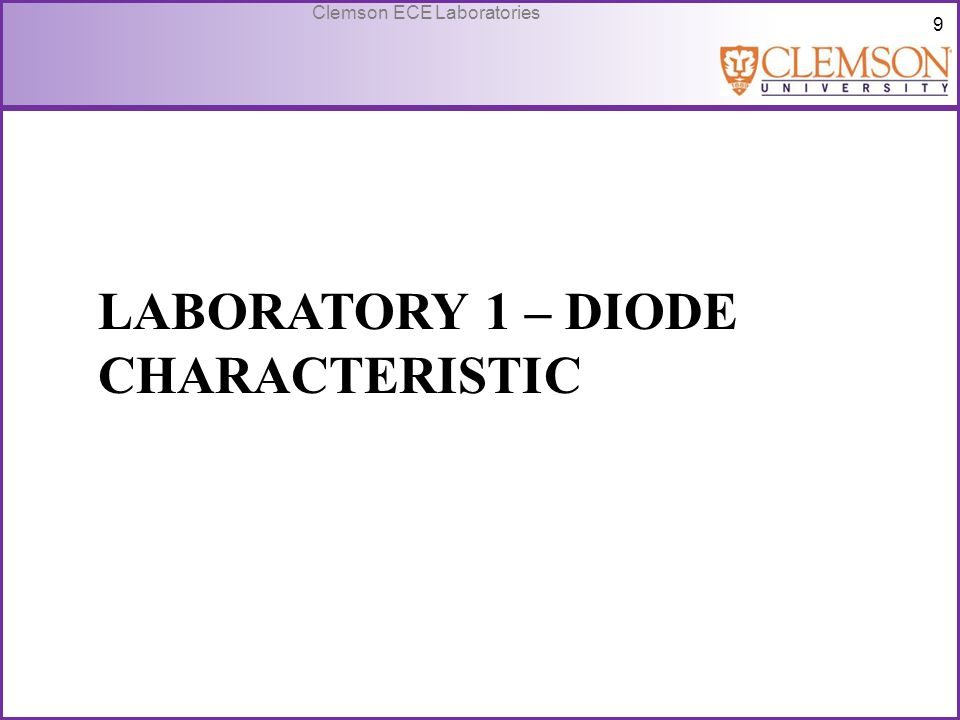 Laboratory 1 – Diode Characteristic