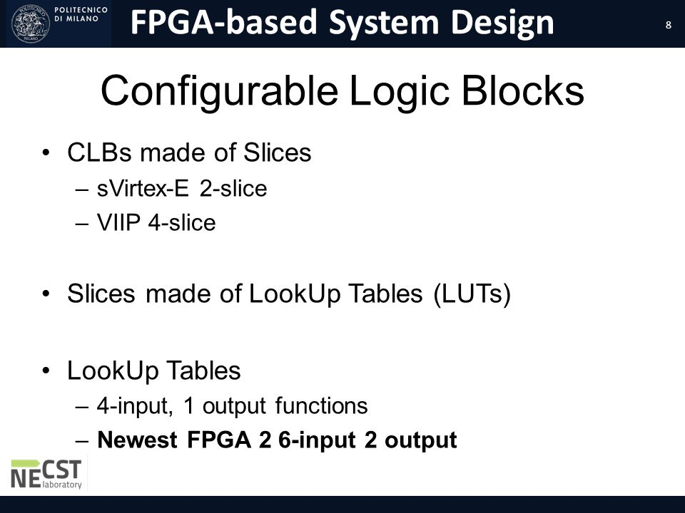 Configurable Logic Blocks