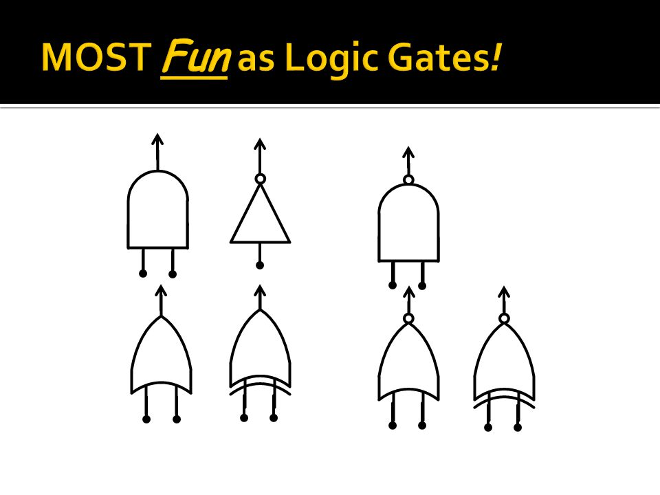MOST Fun as Logic Gates!