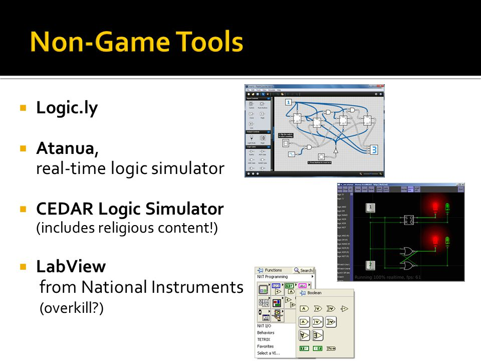Non-Game Tools Logic.ly Atanua, real-time logic simulator