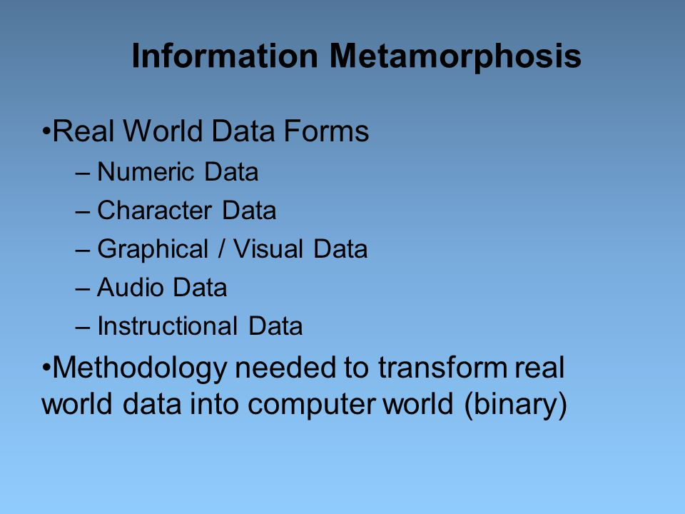 Information Metamorphosis