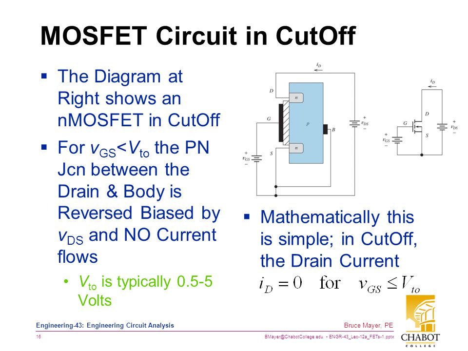 MOSFET Circuit in CutOff