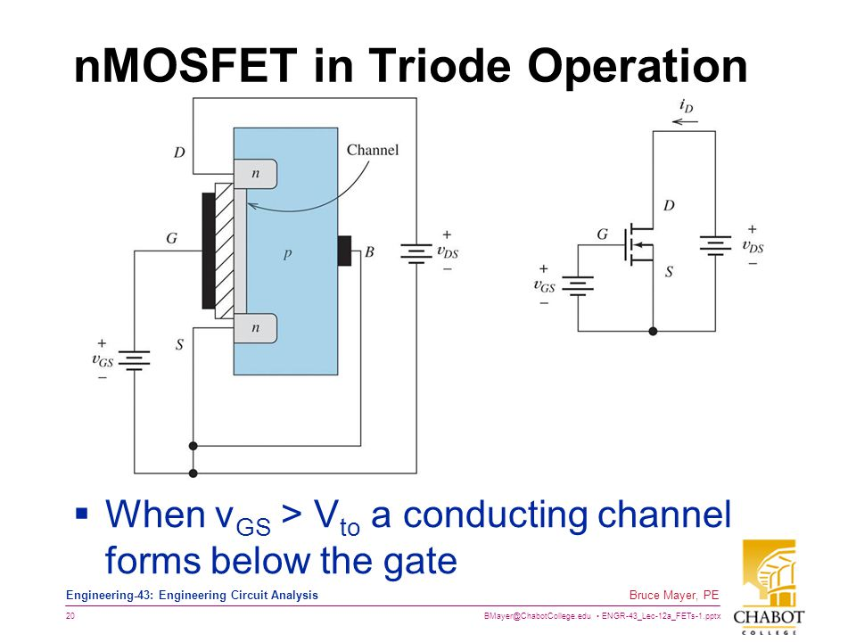 nMOSFET in Triode Operation