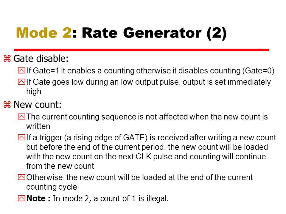Mode 2: Rate Generator (2)