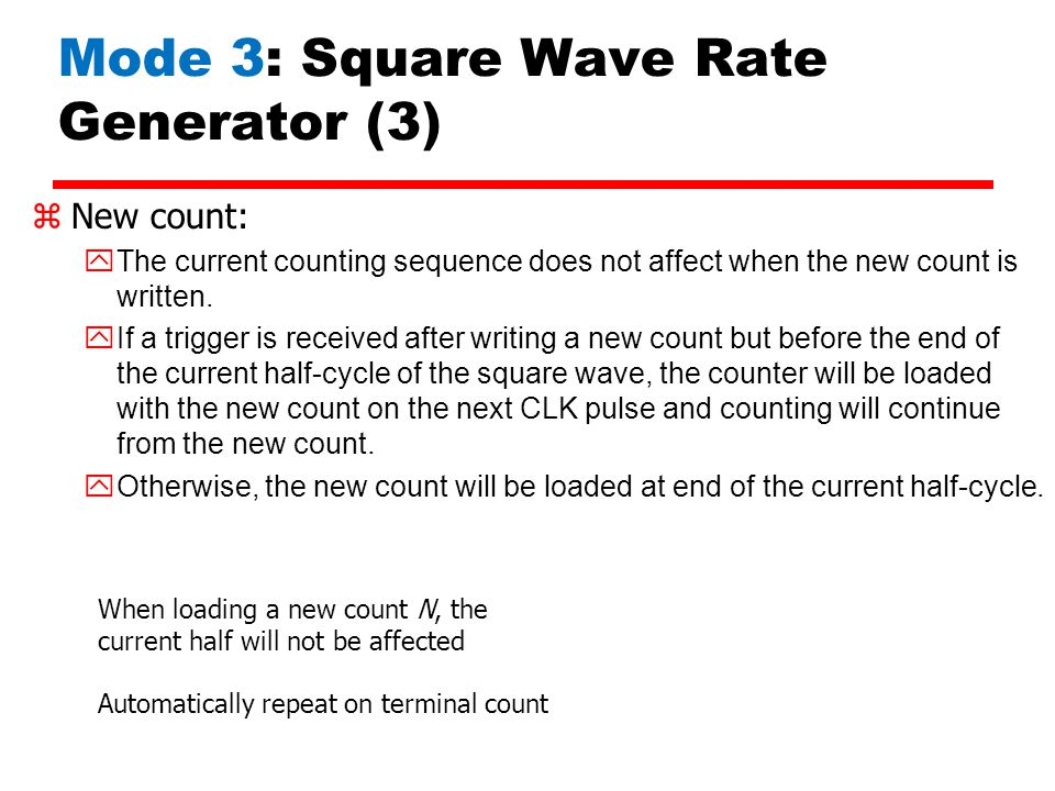 Mode 3: Square Wave Rate Generator (3)