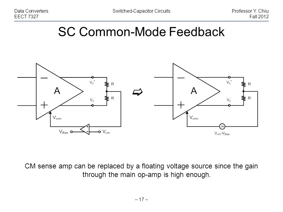 SC Common-Mode Feedback