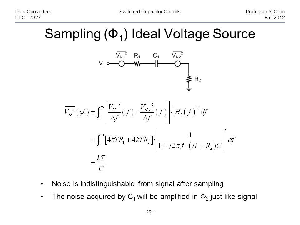 Sampling (Ф1) Ideal Voltage Source