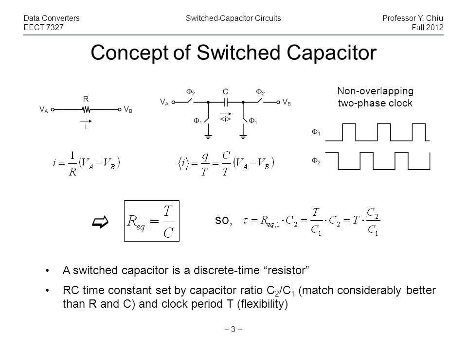 Concept of Switched Capacitor