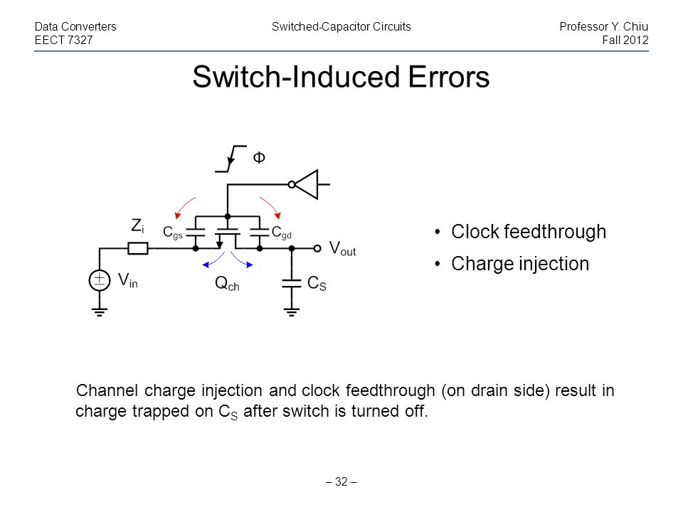 Switch-Induced Errors