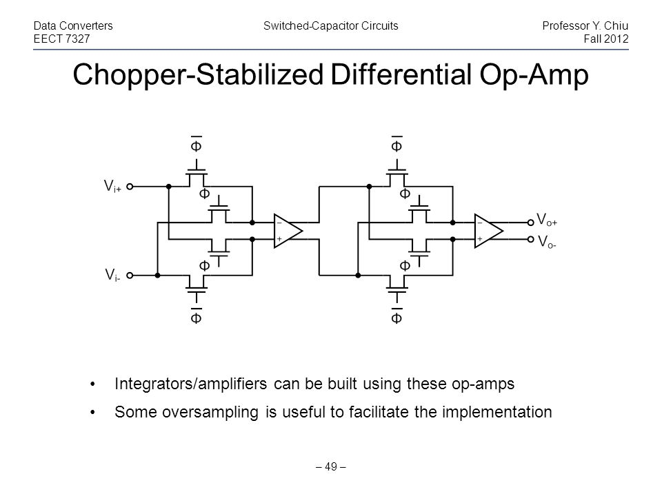 Chopper-Stabilized Differential Op-Amp