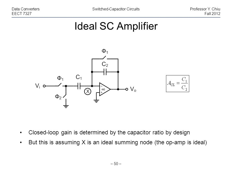 Data Converters Switched-Capacitor Circuits Professor Y. Chiu