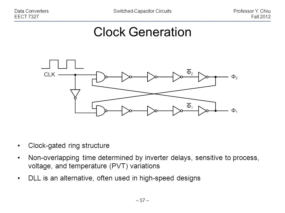 Clock Generation Clock-gated ring structure