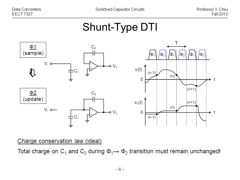 Shunt-Type DTI  Charge conservation law (ideal):