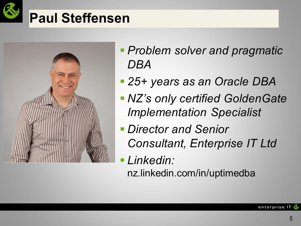 Paul Steffensen Problem solver and pragmatic DBA