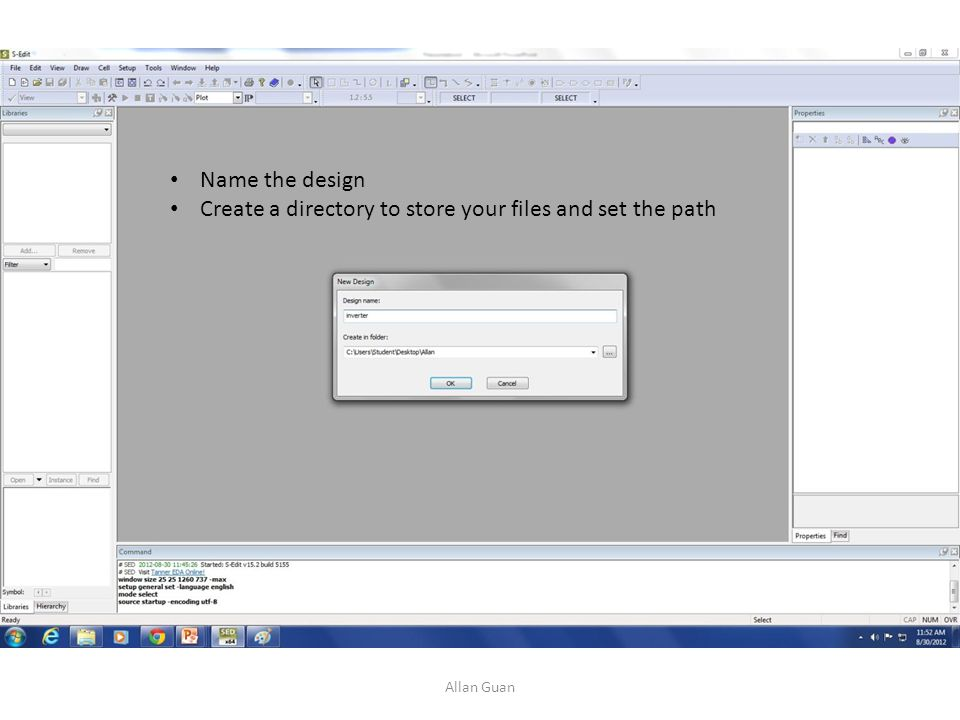 Create a directory to store your files and set the path