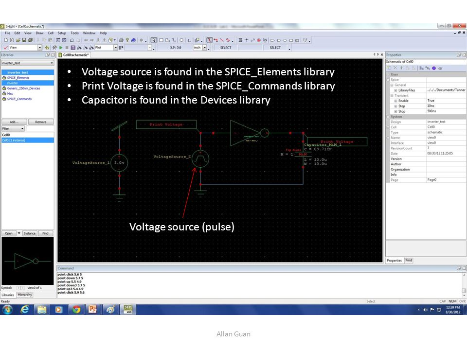 Voltage source is found in the SPICE_Elements library