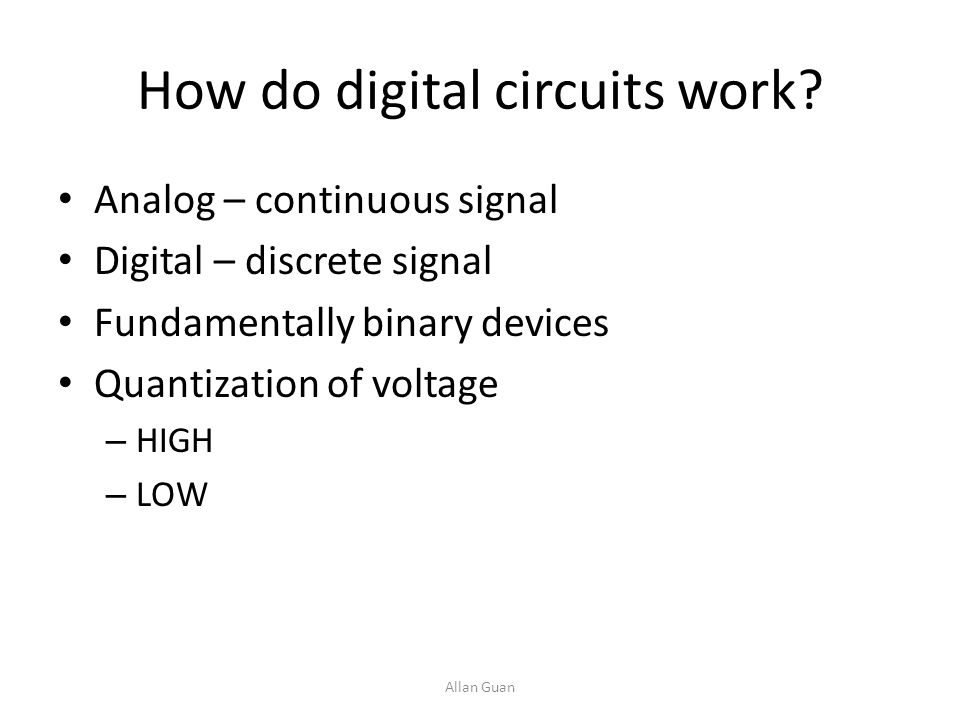 How do digital circuits work