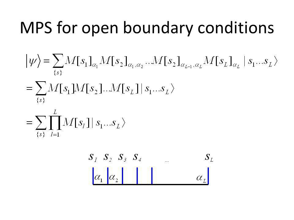 MPS for open boundary conditions