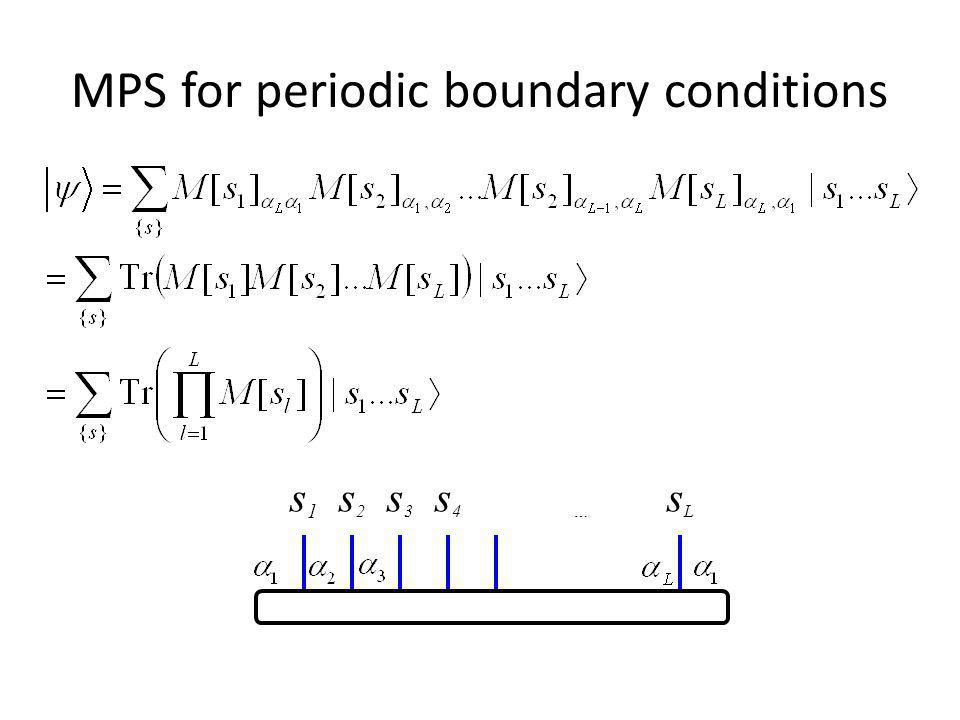 MPS for periodic boundary conditions