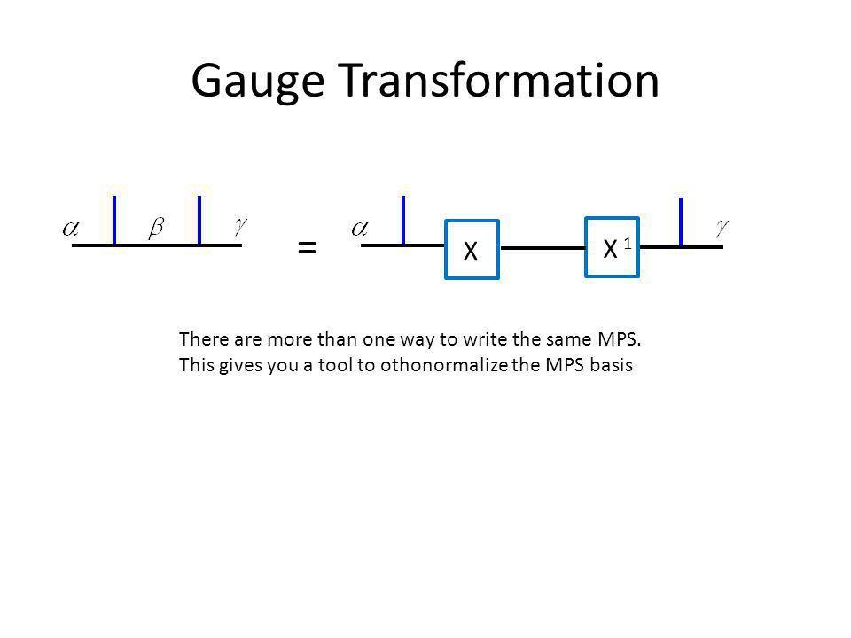 Gauge Transformation X X-1 =