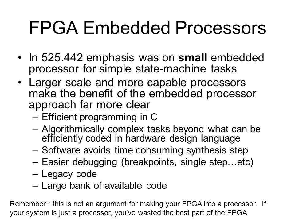FPGA Embedded Processors