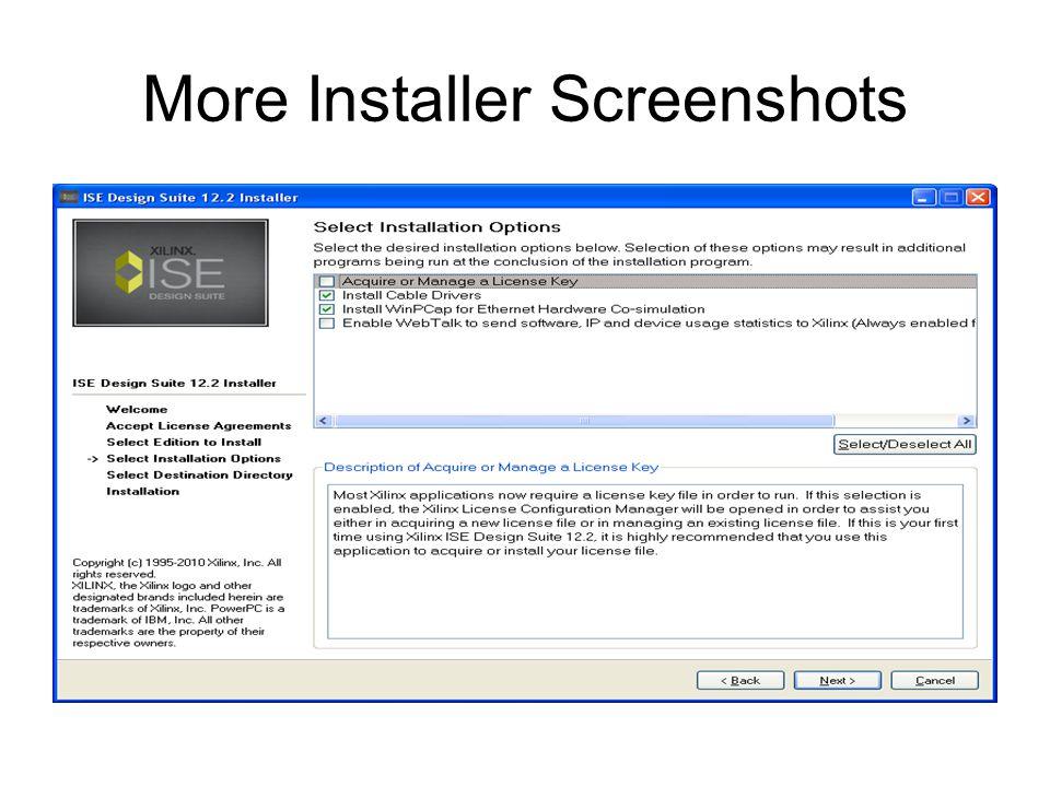 More Installer Screenshots