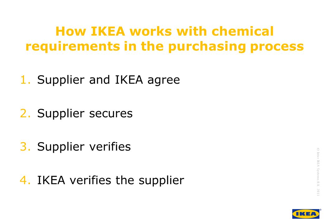 How IKEA works with chemical requirements in the purchasing process
