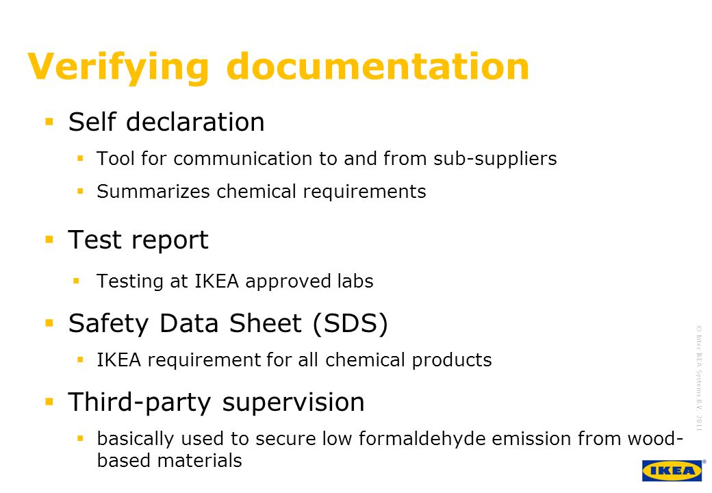 Verifying documentation