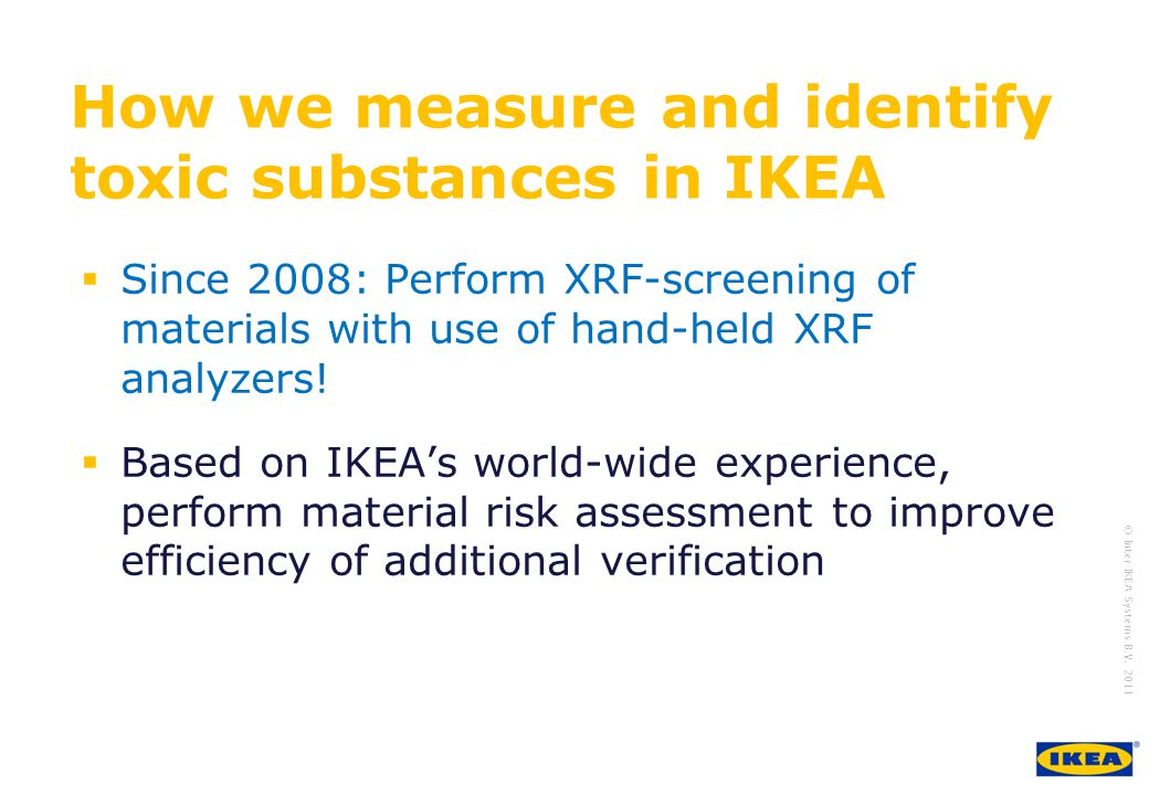 How we measure and identify toxic substances in IKEA