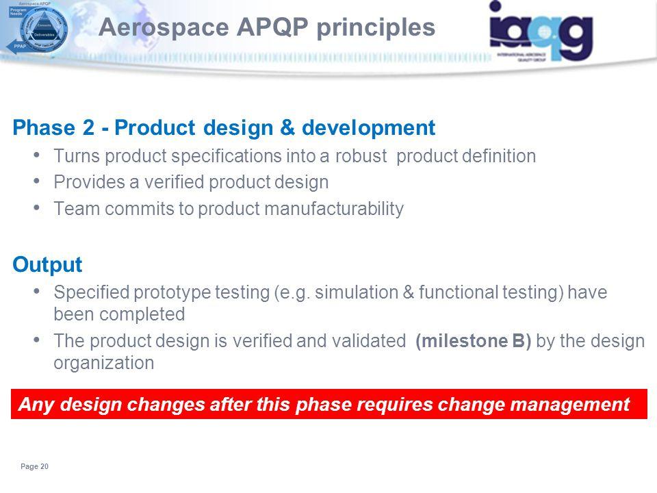Aerospace APQP principles