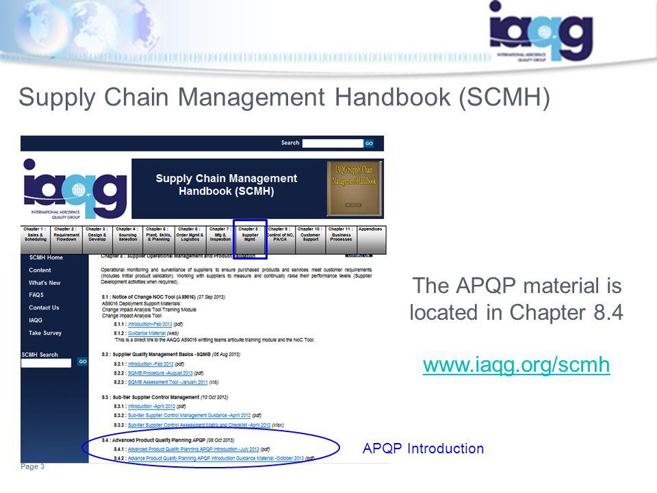 Supply Chain Management Handbook (SCMH)