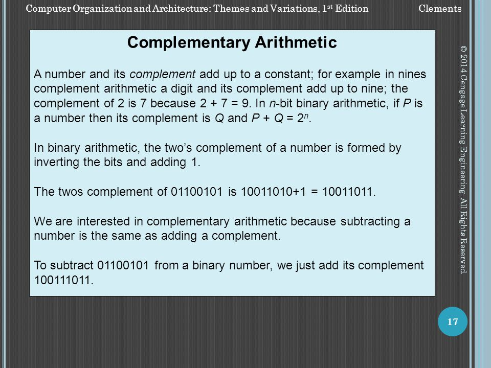Complementary Arithmetic