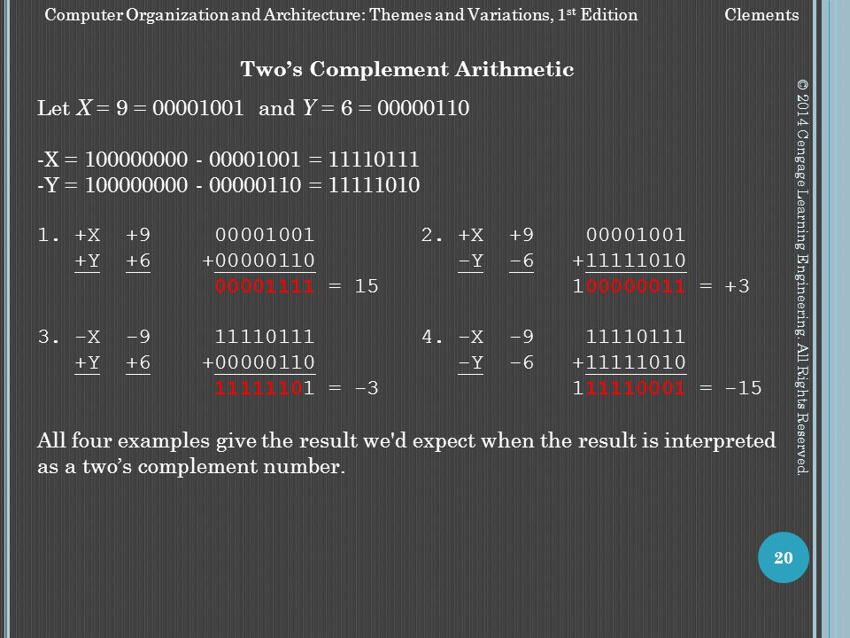 Two's Complement Arithmetic