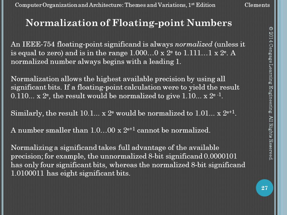 Normalization of Floating-point Numbers