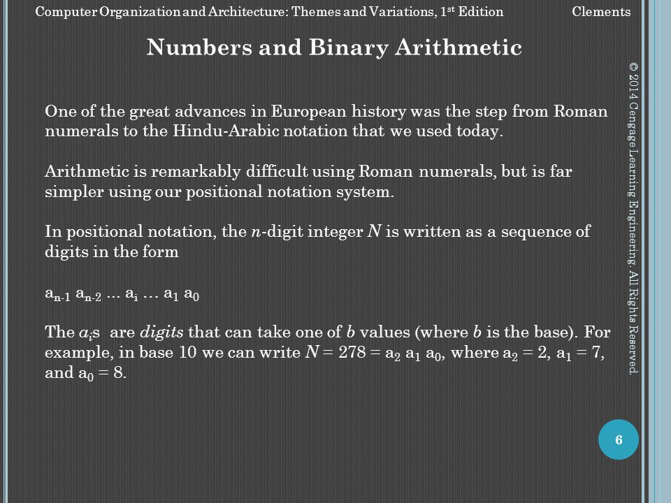 Numbers and Binary Arithmetic