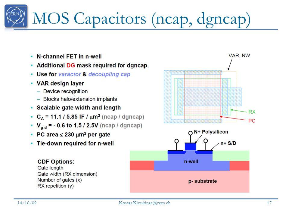 MOS Capacitors (ncap, dgncap)