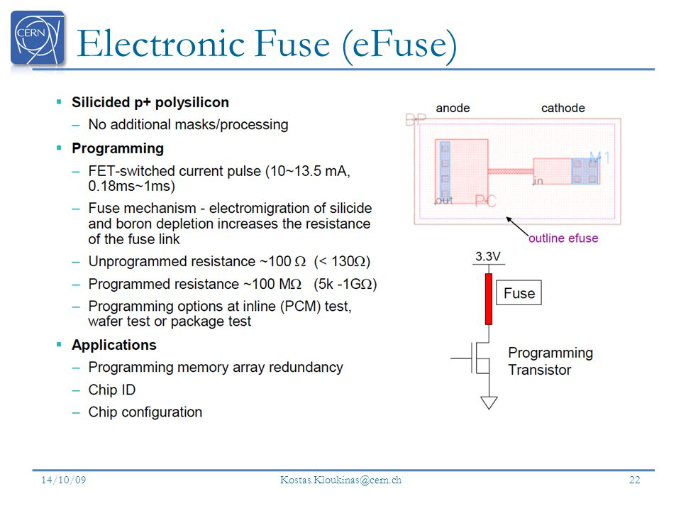 Electronic Fuse (eFuse)