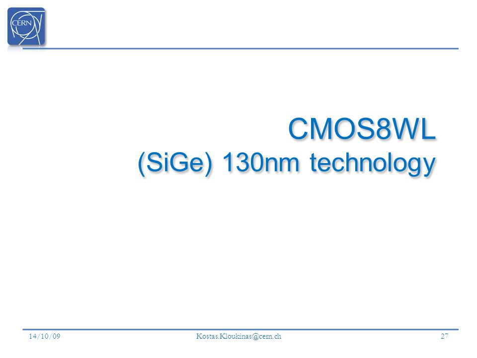 CMOS8WL (SiGe) 130nm technology