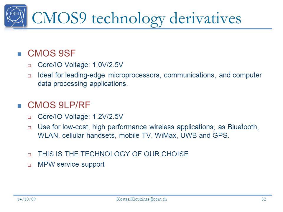 CMOS9 technology derivatives