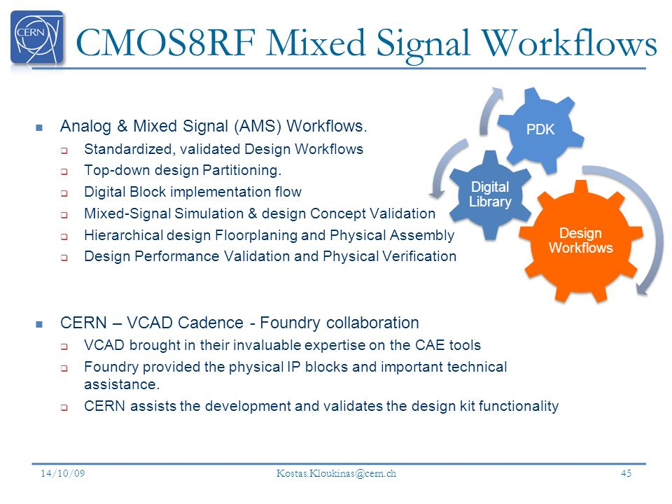 CMOS8RF Mixed Signal Workflows