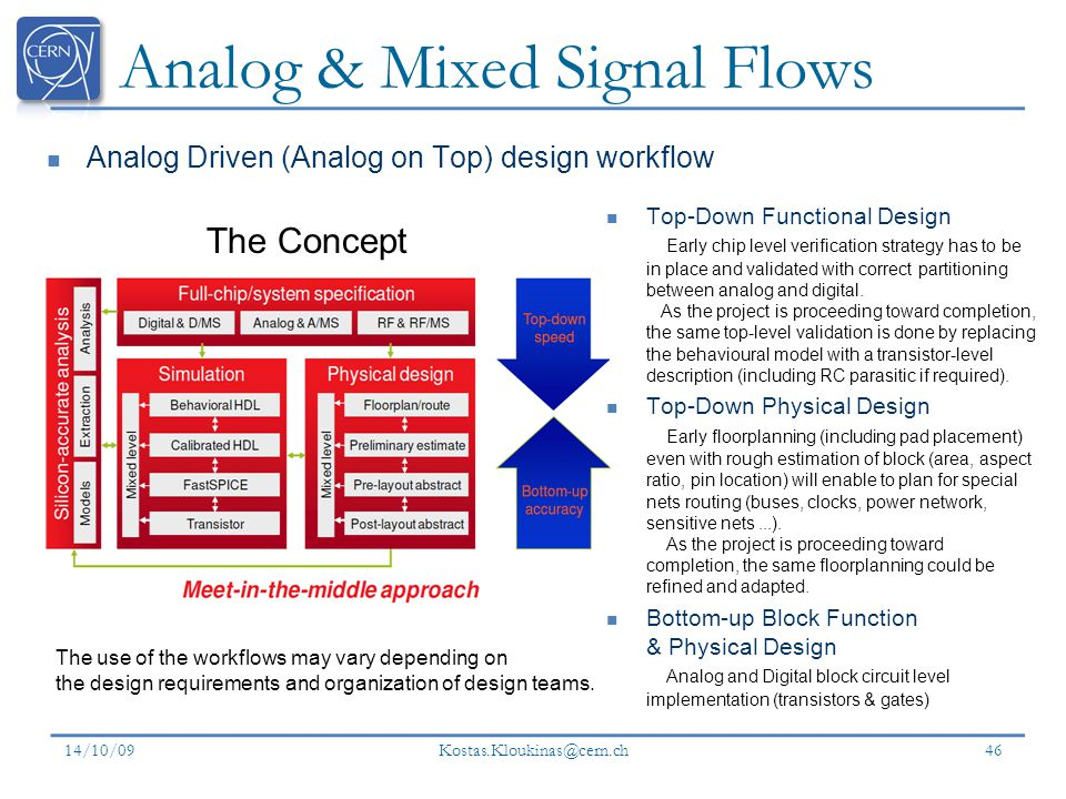 Analog & Mixed Signal Flows