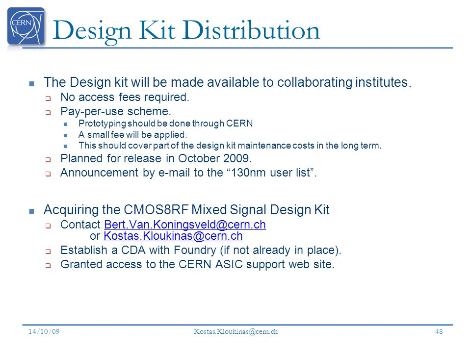 Design Kit Distribution