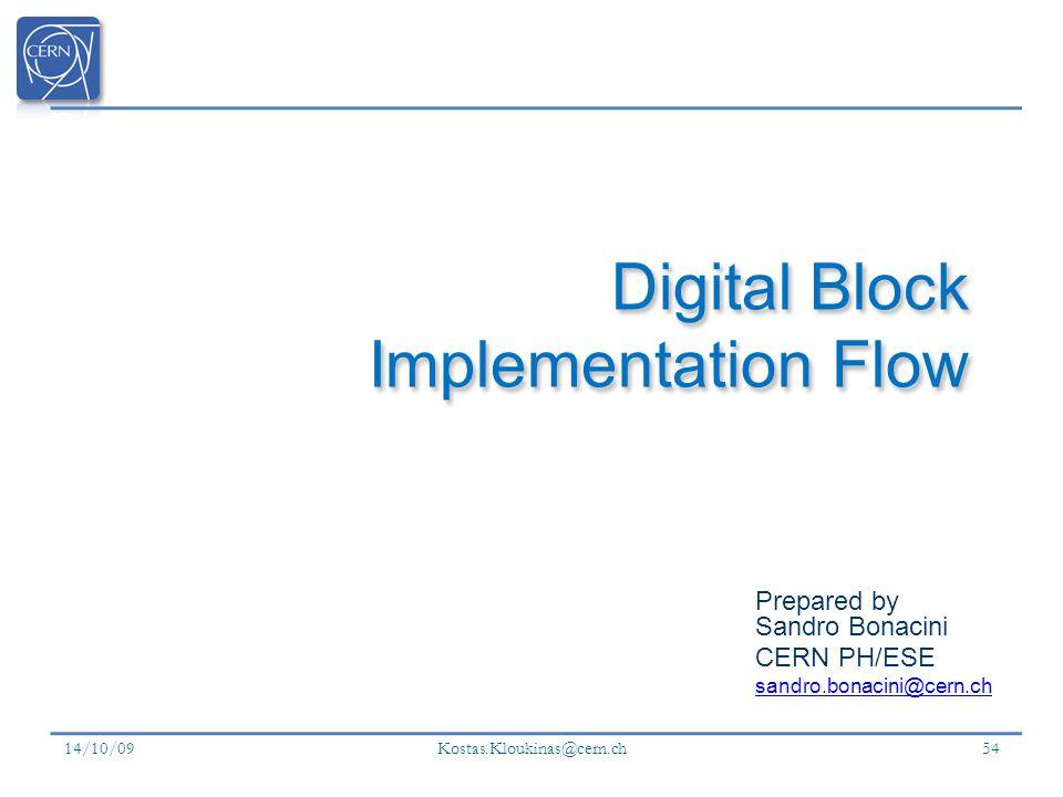 Digital Block Implementation Flow