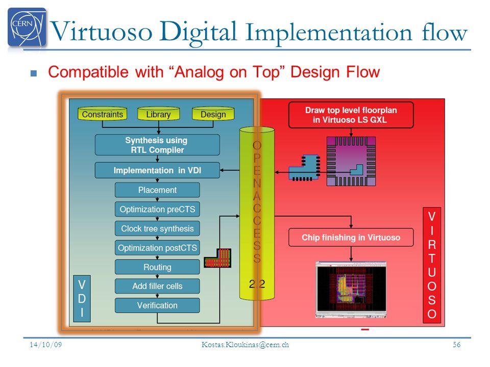 Virtuoso Digital Implementation flow
