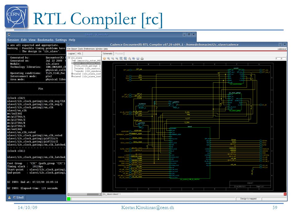 RTL Compiler [rc] 14/10/09