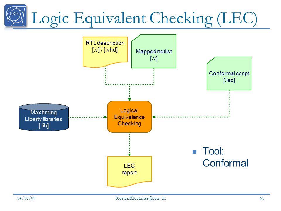 Logic Equivalent Checking (LEC)